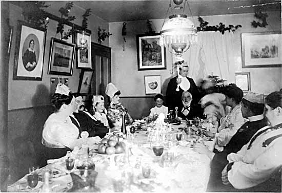 VPL #2598, unknown, 19--, John S. Helmcken at dinner party