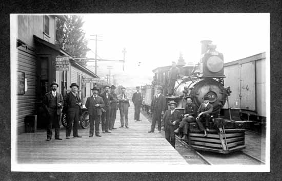 VPL #669, unknown, 189-, CPR locomotive #96 at Kamloops Station