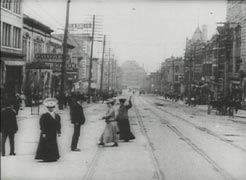 Vancouver Street Scene from 1907 Harbeck film